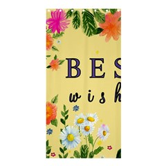 Best Wishes Yellow Flower Greeting Shower Curtain 36  X 72  (stall)  by Sapixe