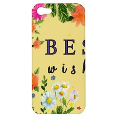 Best Wishes Yellow Flower Greeting Apple Iphone 5 Hardshell Case