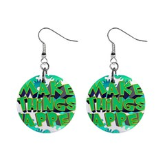 Gears Gear Interaction Act Do Mini Button Earrings