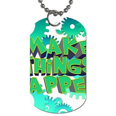 Gears Gear Interaction Act Do Dog Tag (two Sides) by Sapixe