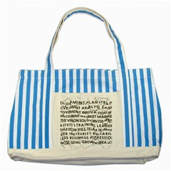 Success Business Professional Striped Blue Tote Bag