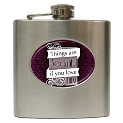 Beautiful Things Encourage Hip Flask (6 Oz) by Sapixe