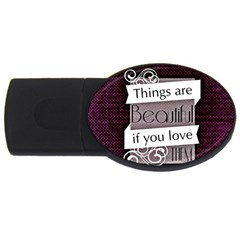 Beautiful Things Encourage Usb Flash Drive Oval (2 Gb) by Sapixe