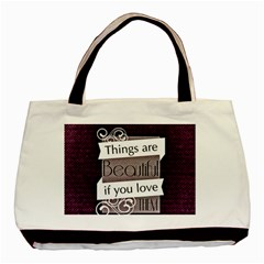 Beautiful Things Encourage Basic Tote Bag (two Sides) by Sapixe