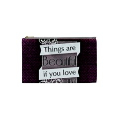 Beautiful Things Encourage Cosmetic Bag (small)  by Sapixe
