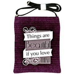 Beautiful Things Encourage Shoulder Sling Bags by Sapixe