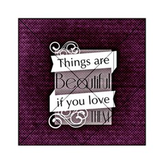 Beautiful Things Encourage Acrylic Tangram Puzzle (6  X 6 ) by Sapixe