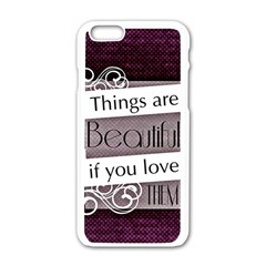 Beautiful Things Encourage Apple Iphone 6/6s White Enamel Case by Sapixe