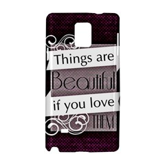 Beautiful Things Encourage Samsung Galaxy Note 4 Hardshell Case by Sapixe