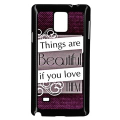 Beautiful Things Encourage Samsung Galaxy Note 4 Case (black) by Sapixe