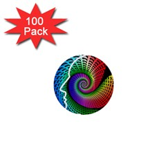 Head Spiral Self Confidence 1  Mini Buttons (100 Pack)