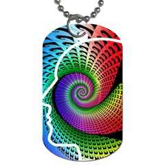 Head Spiral Self Confidence Dog Tag (one Side) by Sapixe