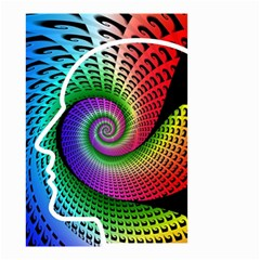 Head Spiral Self Confidence Small Garden Flag (two Sides) by Sapixe
