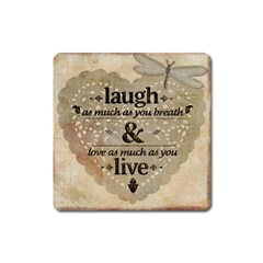 Motivational Calligraphy Grunge Square Magnet
