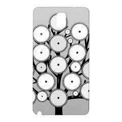 Gears Tree Structure Networks Samsung Galaxy Note 3 N9005 Hardshell Back Case