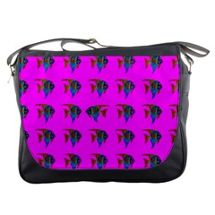 Opposite Way Fish Swimming Messenger Bags