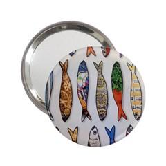 Fish Sardines Motive Pattern 2 25  Handbag Mirrors