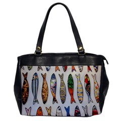 Fish Sardines Motive Pattern Office Handbags