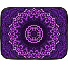 Mandala Purple Mandalas Balance Fleece Blanket (mini)