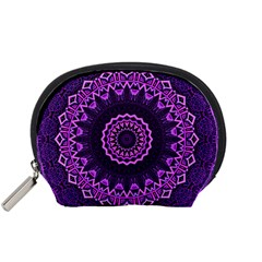 Mandala Purple Mandalas Balance Accessory Pouches (small)