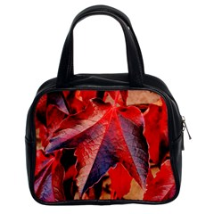 Wine Partner Wild Vine Leaves Plant Classic Handbags (2 Sides)
