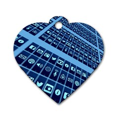 Mobile Phone Smartphone App Dog Tag Heart (one Side)