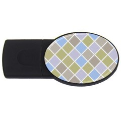 Background Paper Texture Motive Usb Flash Drive Oval (2 Gb)