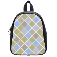 Background Paper Texture Motive School Bag (small)