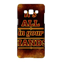 Motivation Live Courage Enjoy Life Samsung Galaxy A5 Hardshell Case  by Sapixe