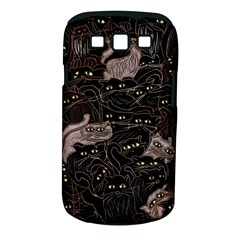 Cats On Black Seamless Pattern Samsung Galaxy S Iii Classic Hardshell Case (pc+silicone)
