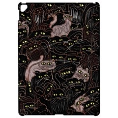 Cats On Black Seamless Pattern Apple Ipad Pro 12 9   Hardshell Case by bloomingvinedesign