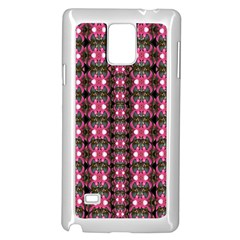 Butterflies In A Wonderful Forest Of Climbing Flowers Samsung Galaxy Note 4 Case (white) by pepitasart