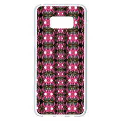 Butterflies In A Wonderful Forest Of Climbing Flowers Samsung Galaxy S8 Plus White Seamless Case