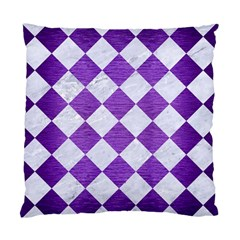 Square2 White Marble & Purple Brushed Metal Standard Cushion Case (one Side)