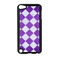 Square2 White Marble & Purple Brushed Metal Apple Ipod Touch 5 Case (black) by trendistuff