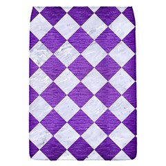 Square2 White Marble & Purple Brushed Metal Flap Covers (s)
