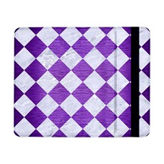 Square2 White Marble & Purple Brushed Metal Samsung Galaxy Tab Pro 8 4  Flip Case