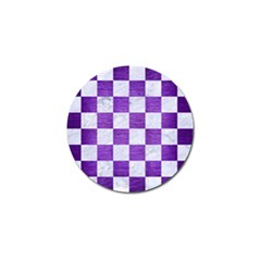 Square1 White Marble & Purple Brushed Metal Golf Ball Marker (10 Pack) by trendistuff