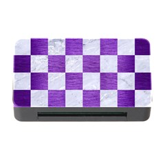 Square1 White Marble & Purple Brushed Metal Memory Card Reader With Cf