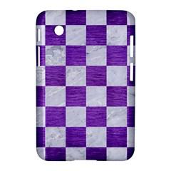 Square1 White Marble & Purple Brushed Metal Samsung Galaxy Tab 2 (7 ) P3100 Hardshell Case