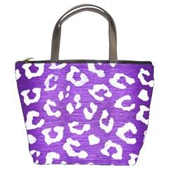 Skin5 White Marble & Purple Brushed Metal (r) Bucket Bags