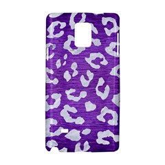 Skin5 White Marble & Purple Brushed Metal (r) Samsung Galaxy Note 4 Hardshell Case
