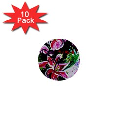 Lilac And Lillies 3 1  Mini Buttons (10 Pack)  by bestdesignintheworld