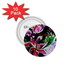 Lilac And Lillies 3 1 75  Buttons (10 Pack) by bestdesignintheworld
