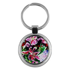 Lilac And Lillies 3 Key Chains (round)  by bestdesignintheworld