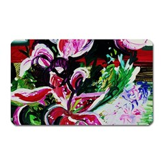 Lilac And Lillies 3 Magnet (rectangular) by bestdesignintheworld