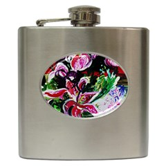 Lilac And Lillies 3 Hip Flask (6 Oz)