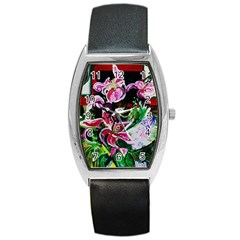 Lilac And Lillies 3 Barrel Style Metal Watch by bestdesignintheworld