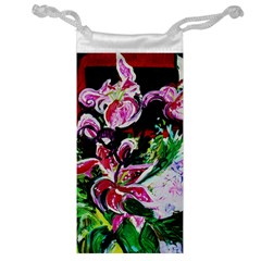 Lilac And Lillies 3 Jewelry Bags by bestdesignintheworld