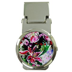 Lilac And Lillies 3 Money Clip Watches by bestdesignintheworld